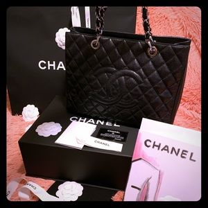 Chanel GST in Black Caviar Leather